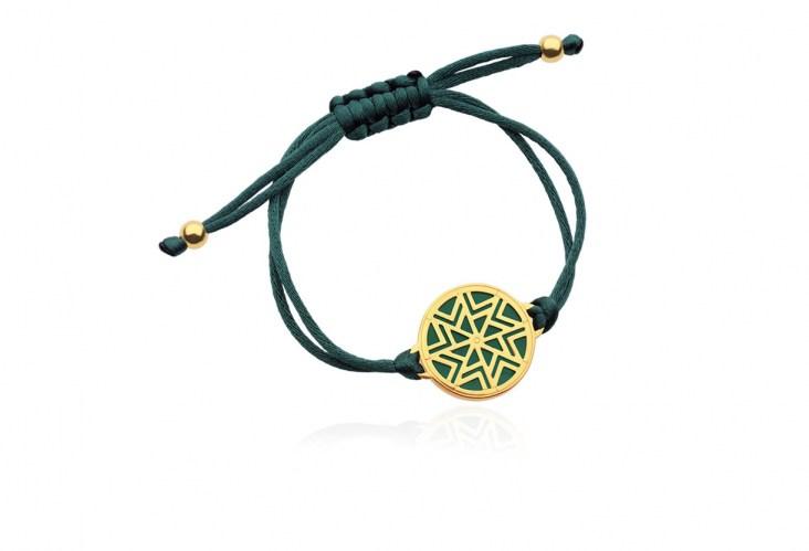 Βραχιόλι AEOLOS σε ασήμι επιχρυσωμένο με πολύτιμο λίθο πράσινο αχάτη 5f67962351b